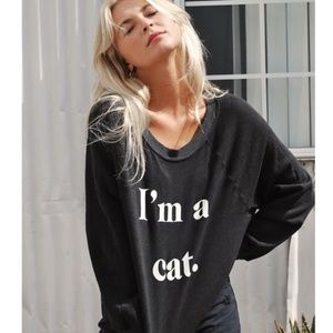 NWT WILDFOX I'm a Cat Pullover Sommers Sweatshirt